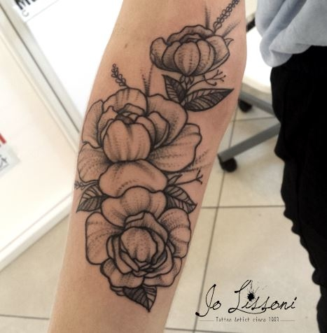 flower tattoo tattoo fiori black flower tattoo balck Jo Lissoni 10 1000x1000 - TATTOO COLORI