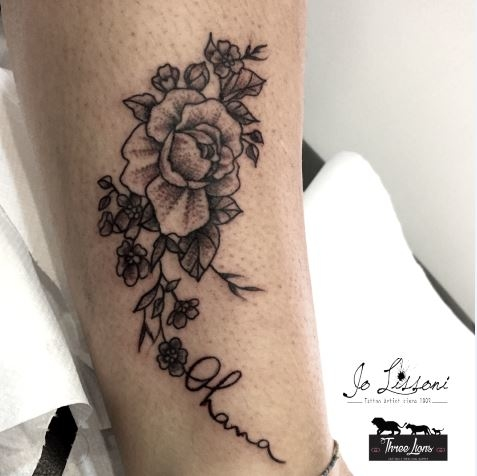 flower tattoo tattoo fiori black flower tattoo balck Jo Lissoni 9 1000x1000 - BLACK TATTOO