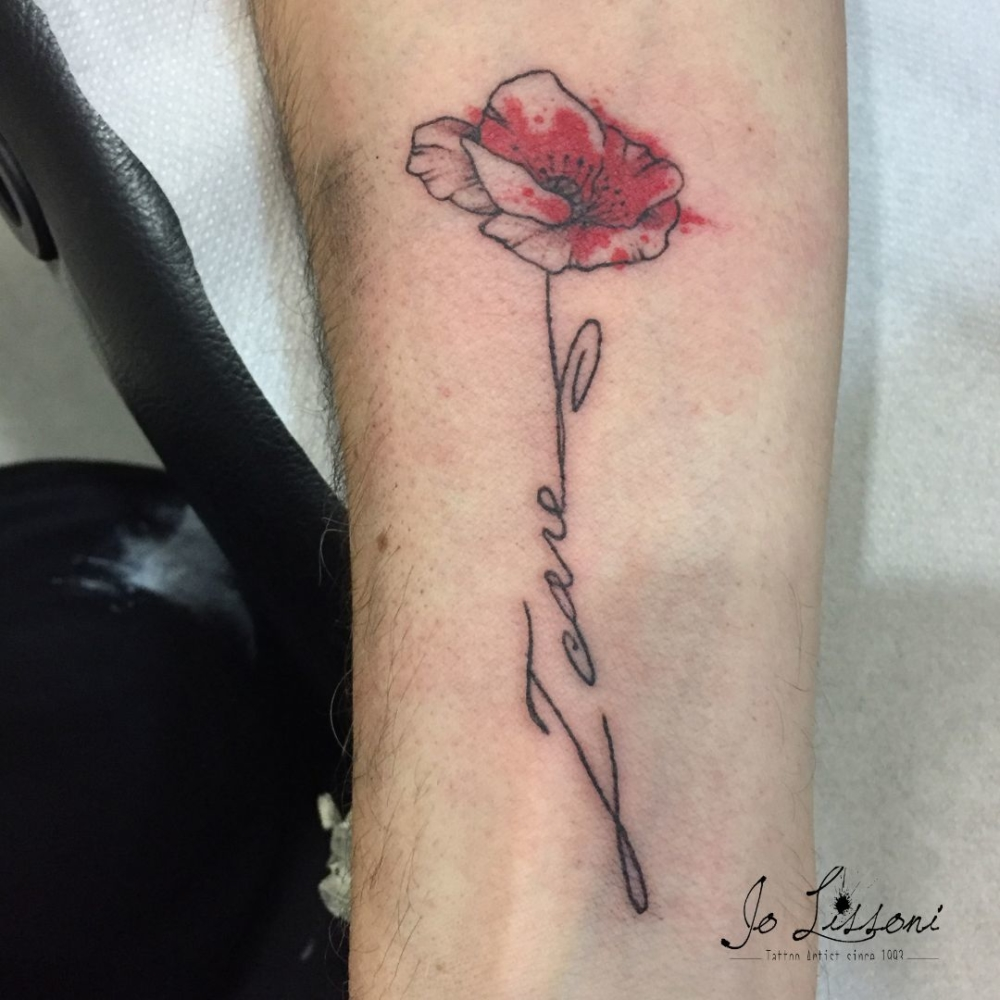 small colour tattoo - tattoo small Jo Lissoni