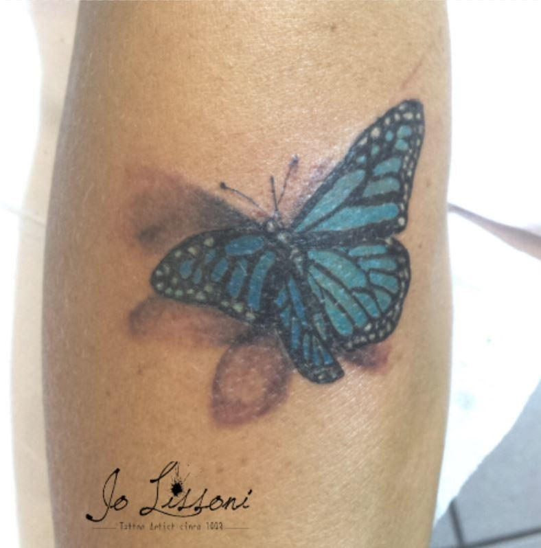 tattoo 3d natura butterfly 3d tattoo jo lissoni tattoo 10 1000x1000 - TATTOO 3D