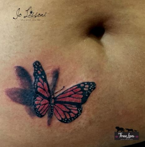 tattoo 3d natura butterfly 3d tattoo jo lissoni tattoo 13 1000x1000 - TATTOO 3D