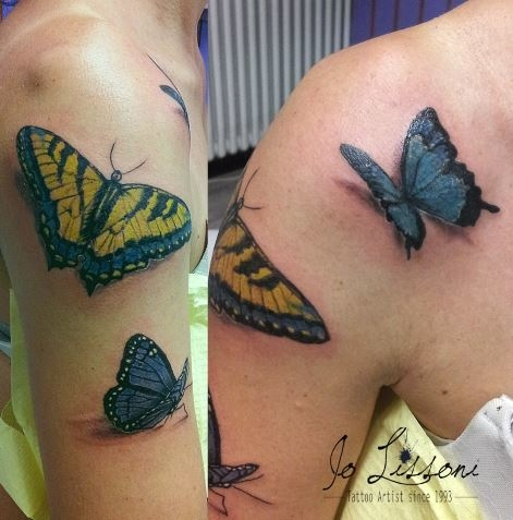 tattoo 3d natura butterfly 3d tattoo jo lissoni tattoo 7 1000x1000 - TATTOO 3D