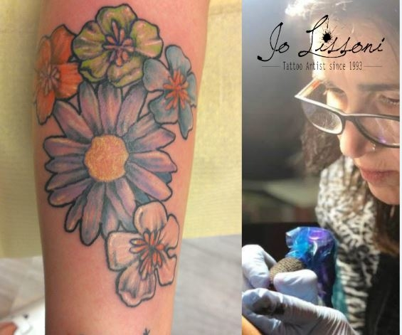 tattoo flower colour Jo Lissoni 9 1000x1000 - TATTOO COLORI