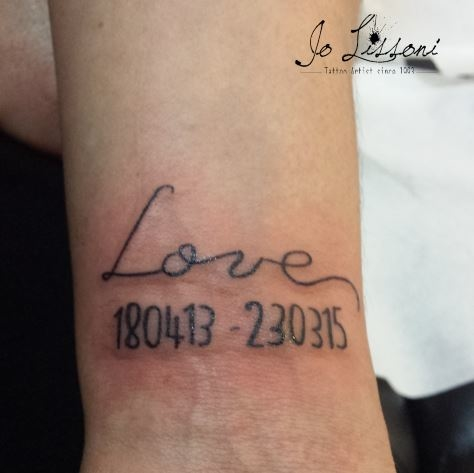 tattoo lettering small tattoo JoLissoni