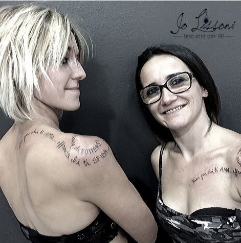 tattoo madre figlia tattoo sorelle tattoo amiche tattoo twins Jo Lissoni 3 1000x1000 - TATTOO DI COPPIA