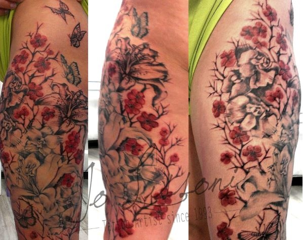 tattoo trash tattoo rosso e nero tattoo fiori big tattoo Jo Lissoni 9 1000x1000 - TATTOO GRANDI PEZZI BLACK&GREY