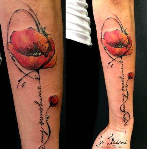 tattoo watercolour flower Jo Lissoni 16 1000x1000 - TATTOO WATERCOLOUR