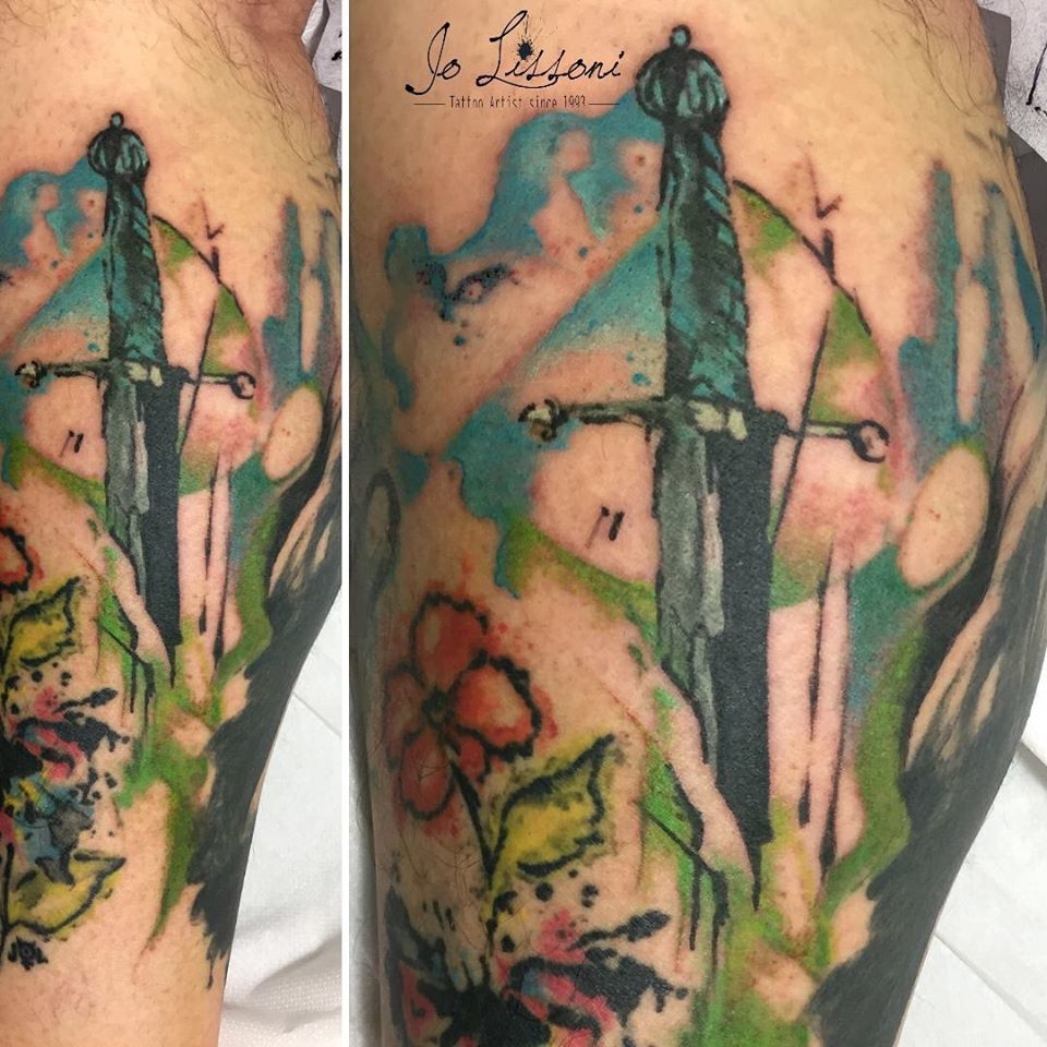 watercolour tattoo tattooflower tattoo sword tattoo botanical colour 1 1000x1000 - TATTOO WATERCOLOUR