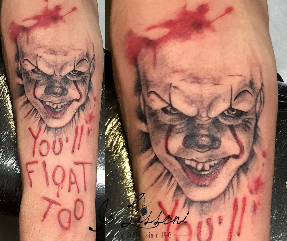 tattoo pennywise 1000x1000 - TATTOO REALISTICO BLACK & GREY